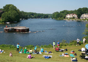 reston masters lake swim